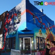 Tpac Mural at Cafe con Chocolate